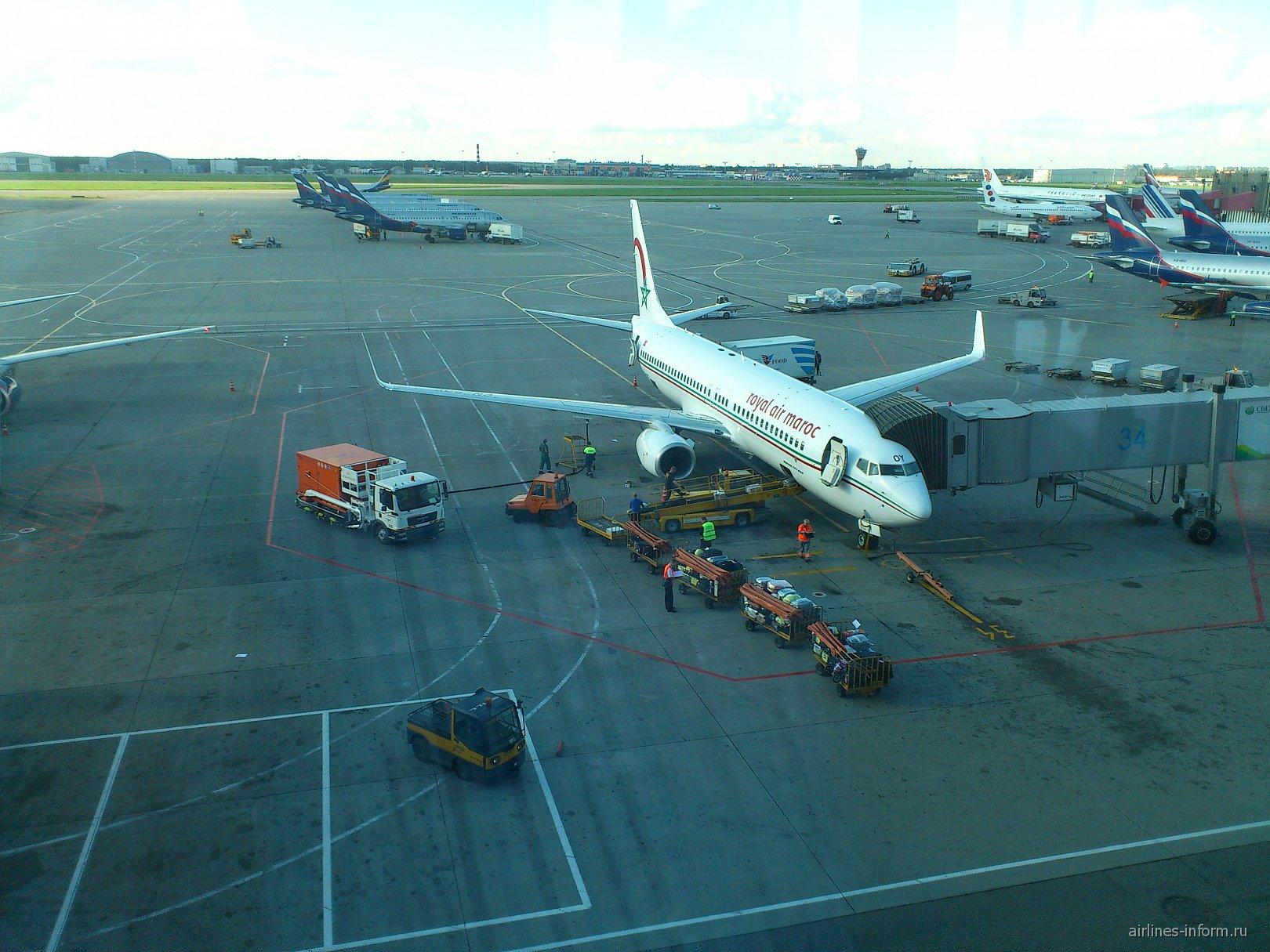 Боинг-737-800 авиакомпании Royal Air Maroc в аэропорту Шереметьево