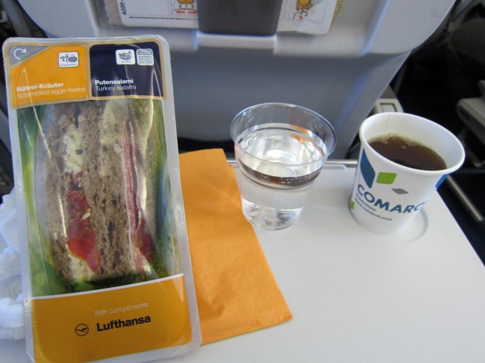 Питание на рейсе Франкфурт-Киев авиакомпании Lufthansa