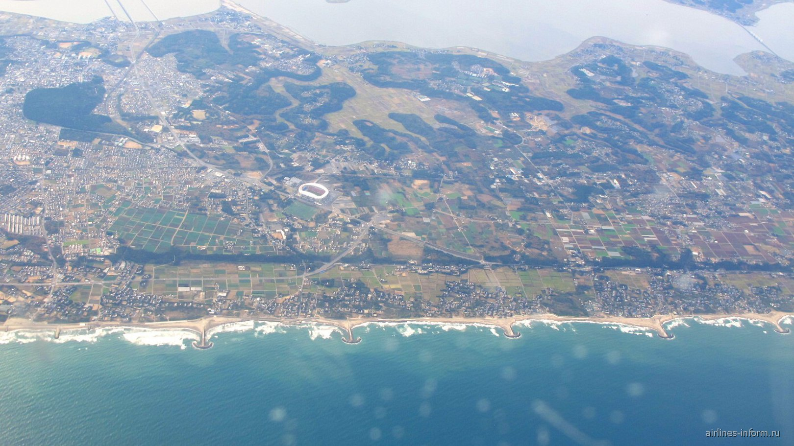 В полете над японским островом Хонсю