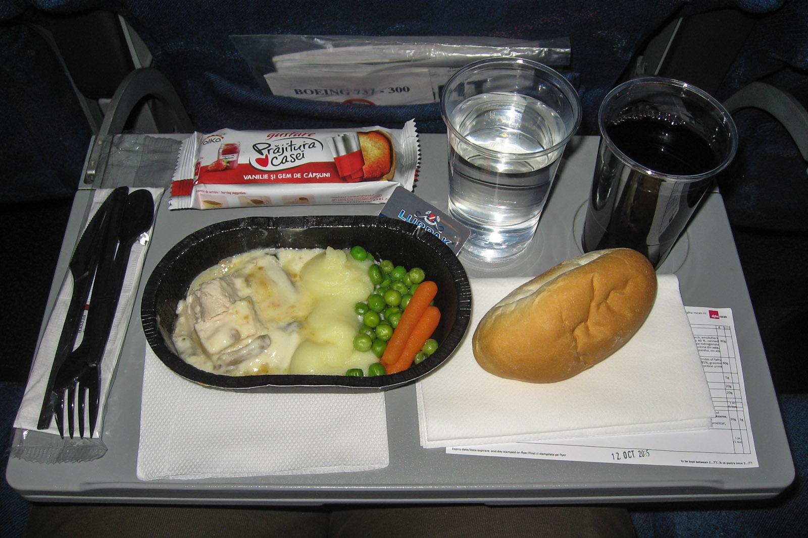 Бортпитание на рейсе Бухарест-Москва авиакомпании TAROM