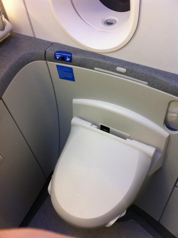 Туалет в самолете Боинг-787 авиакомпании ANA