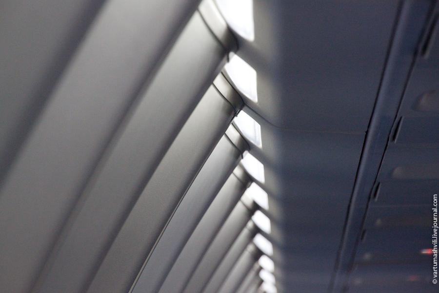 Passenger cabin of Sukhoi Superjet 100