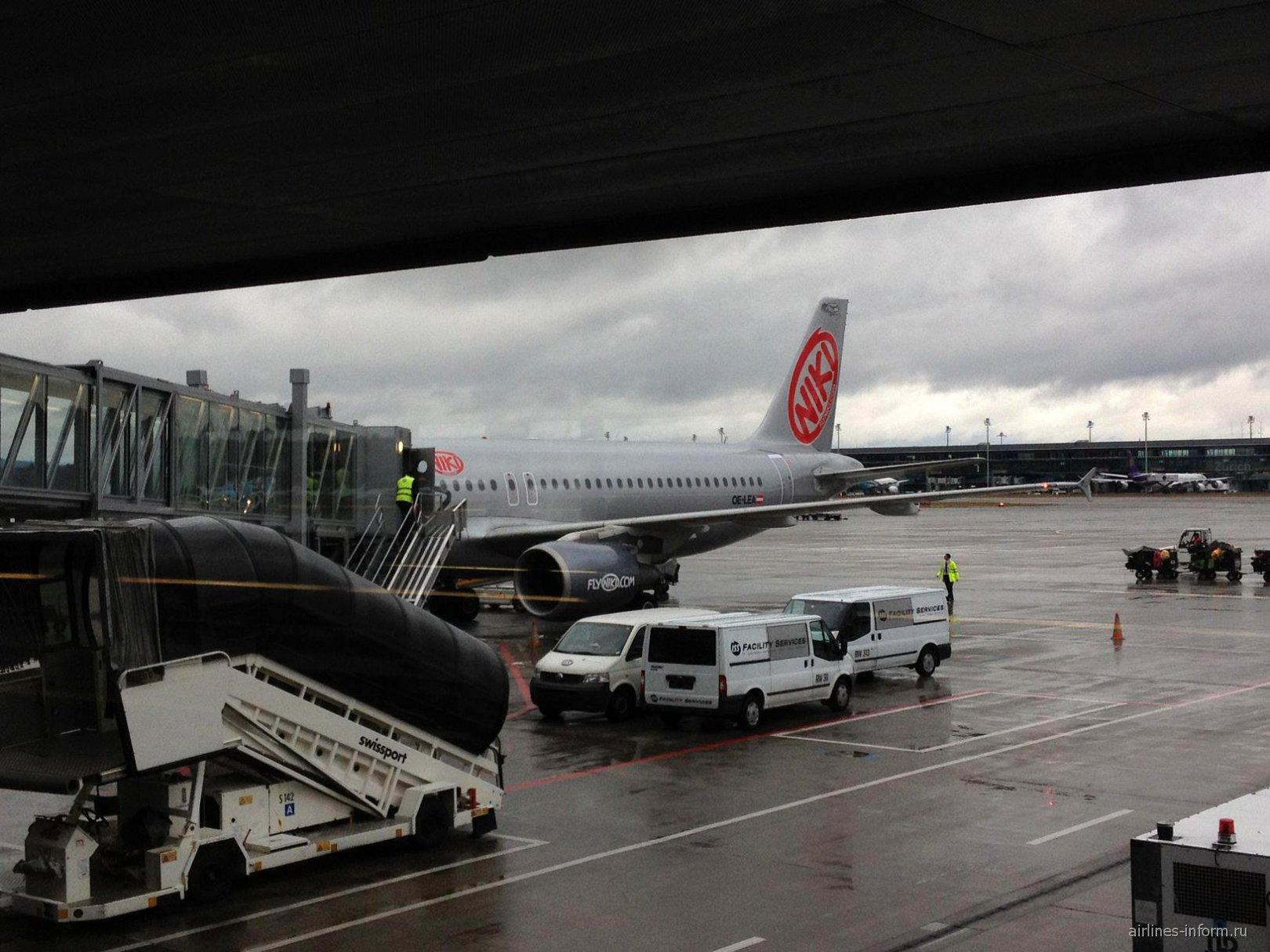 Airbus A320 авиакомпании Niki в аэропорту Цюриха