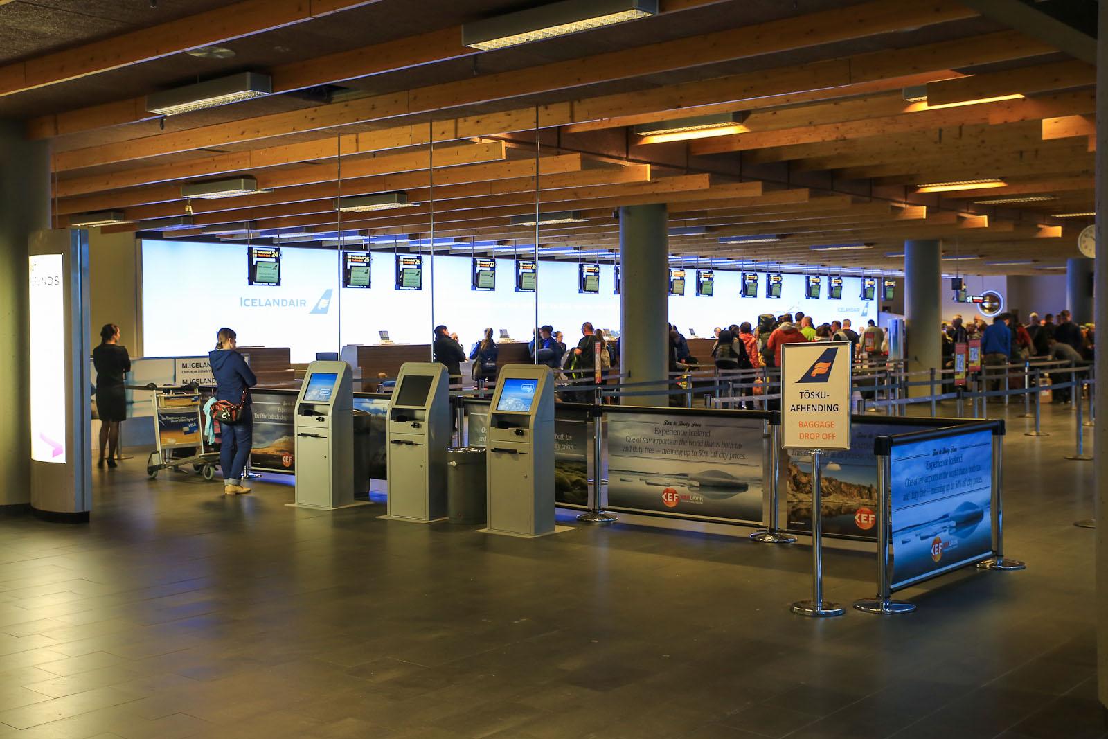 Стойки регистрации в аэропорту Кефлавик