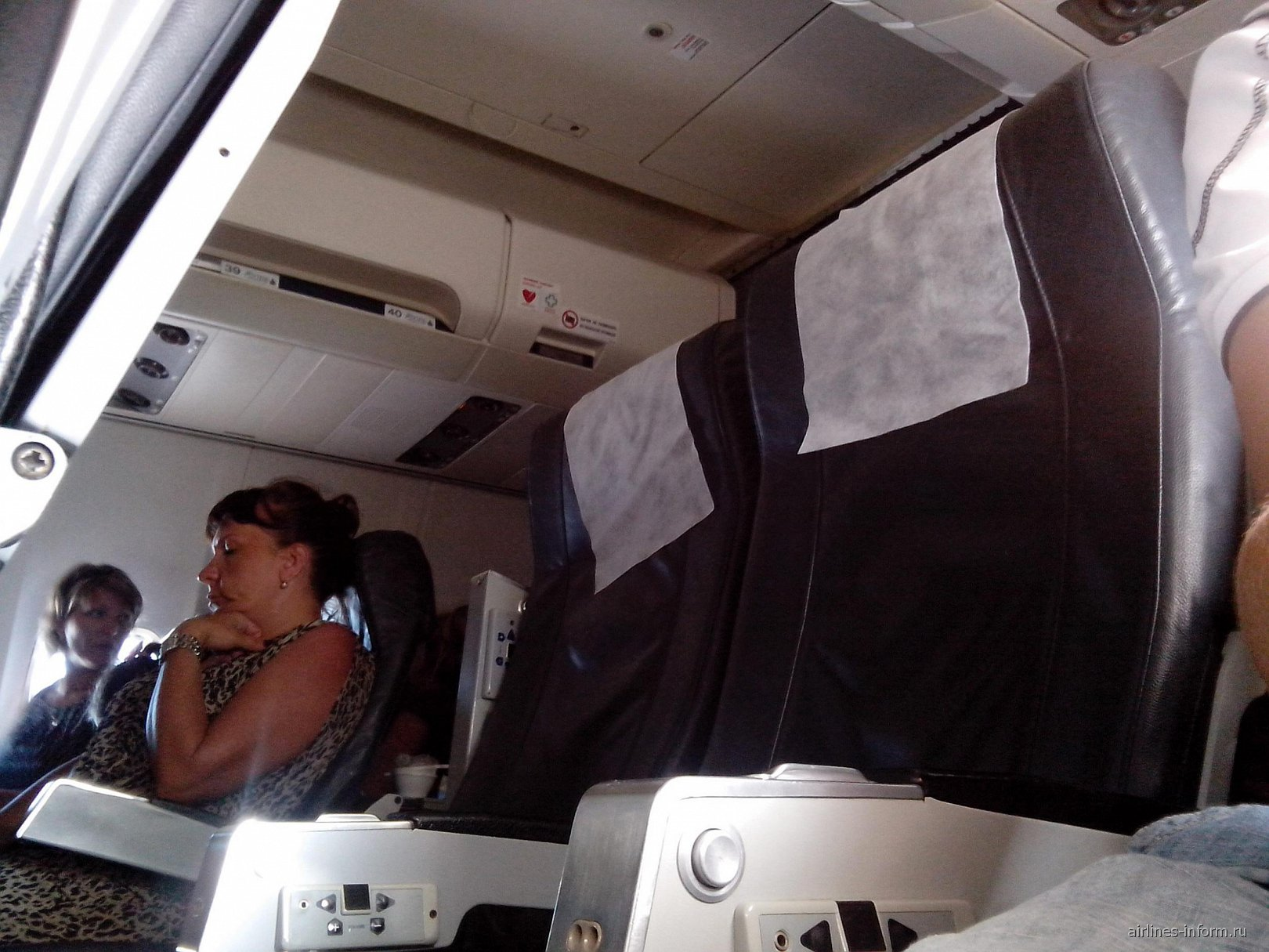 Пассажирские кресла Боинг-757-200 авиакомпании ЮТэйр