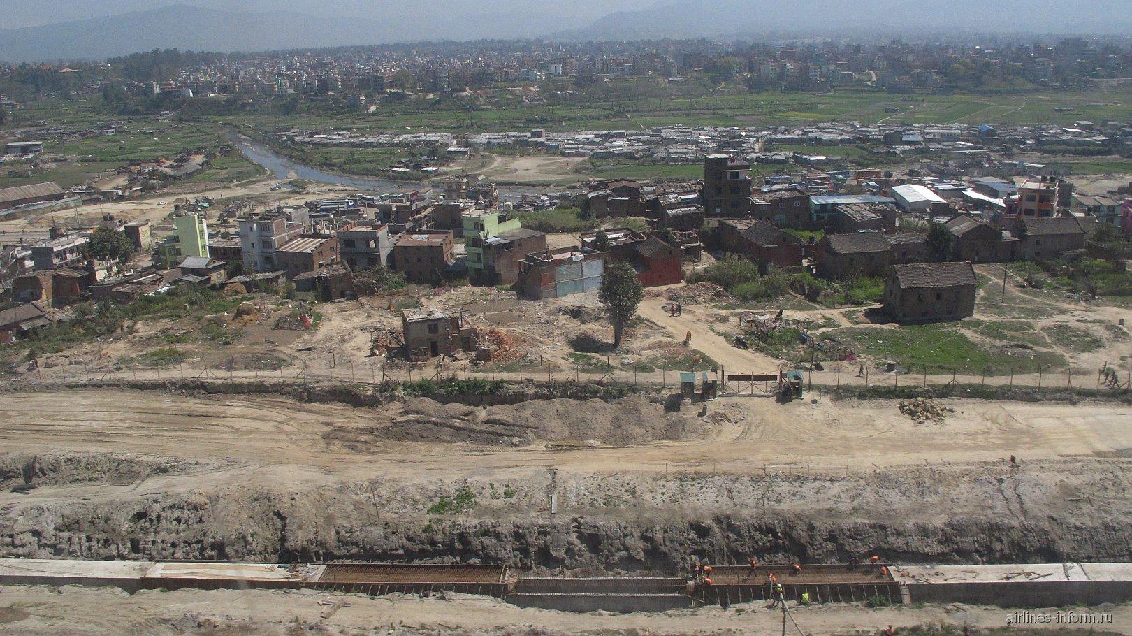 Вид на Катманду из самолета