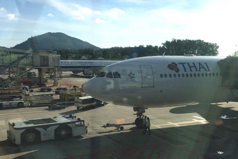 Перелет по маршруту Пхукет-Бангкок (ВКК) с авиакомпанией Thai Airways International на ВС А330-300