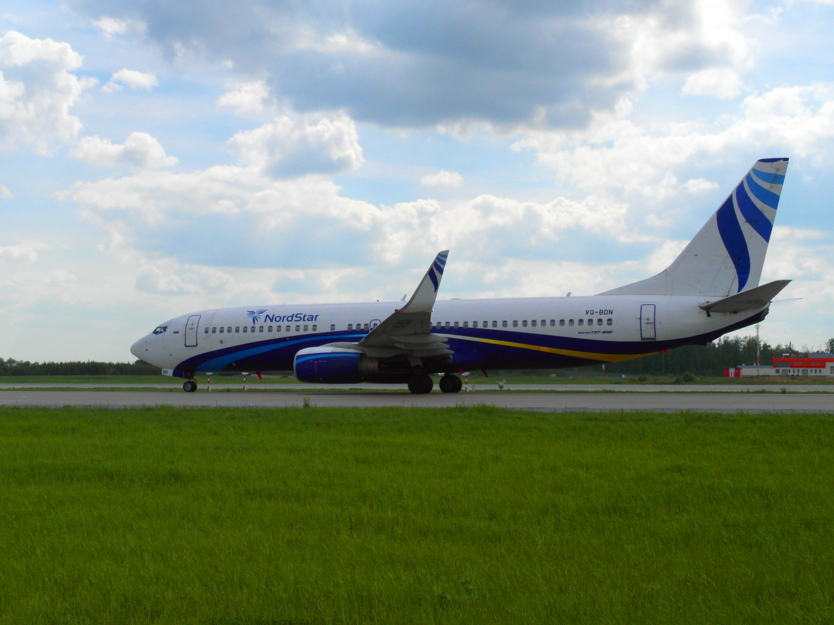 Боинг-737-800 авиакомпании NordStar в аэропорту Домодедово