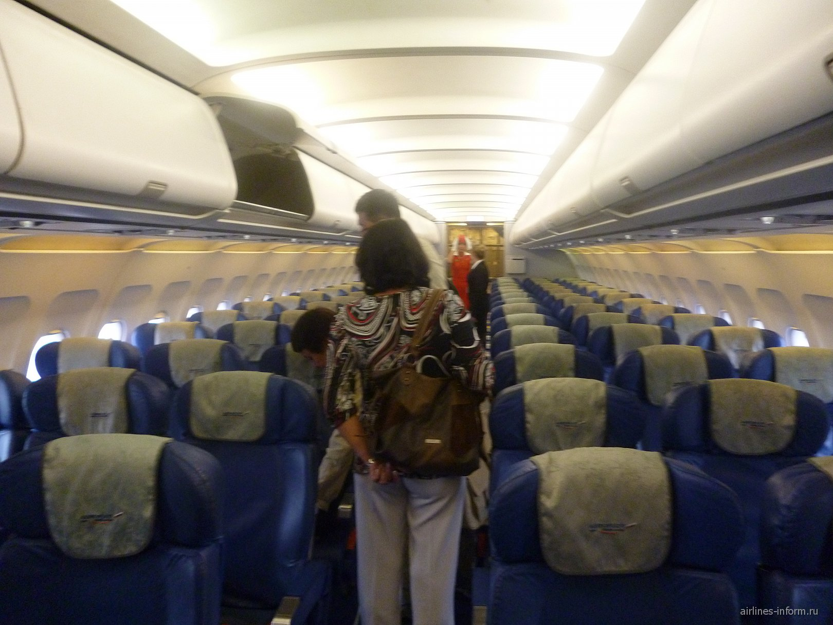 Салон самолета Эрбас А-319 Аэрофлота