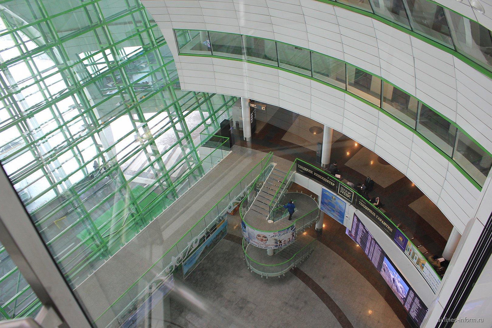 В пассажирском терминале аэропорта Астана