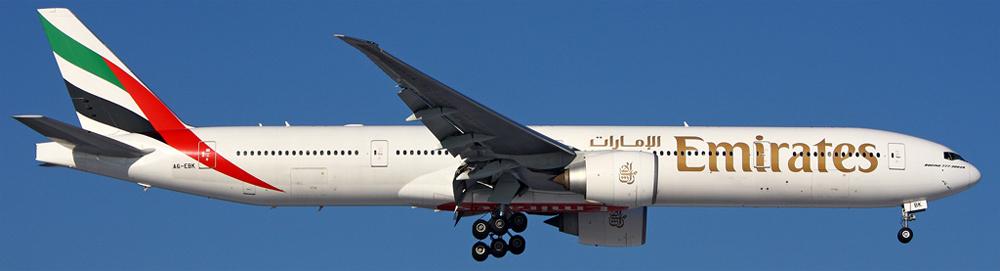 Боинг-777-300 авиакомпании Emirates
