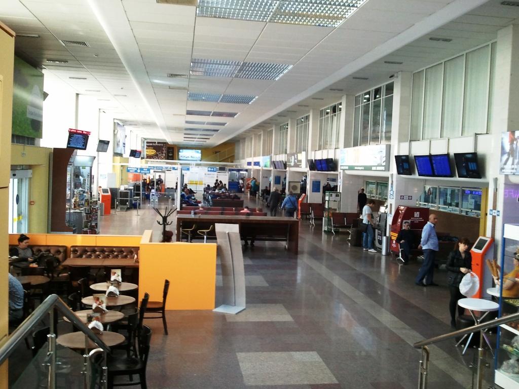 В терминале внутренних рейсов аэропорта Краснодар
