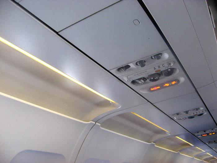 Passenger cabin of Aeroflot Airbus A320