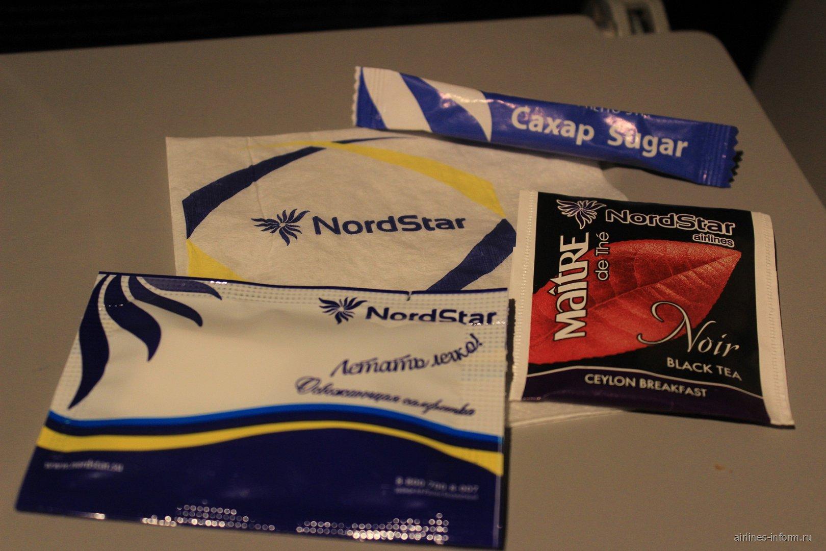 Питание на рейсе Москва-Норильск авиакомпании Нордстар