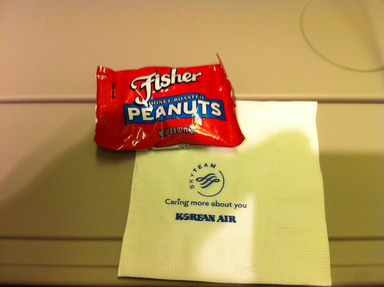 Питание на рейсе Москва-Сеул Корейских авиалиний
