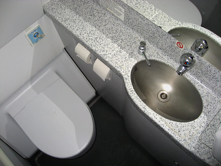 Restrooms of Airbus A320