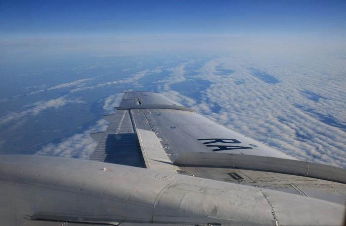 На борту самолета Ту-154