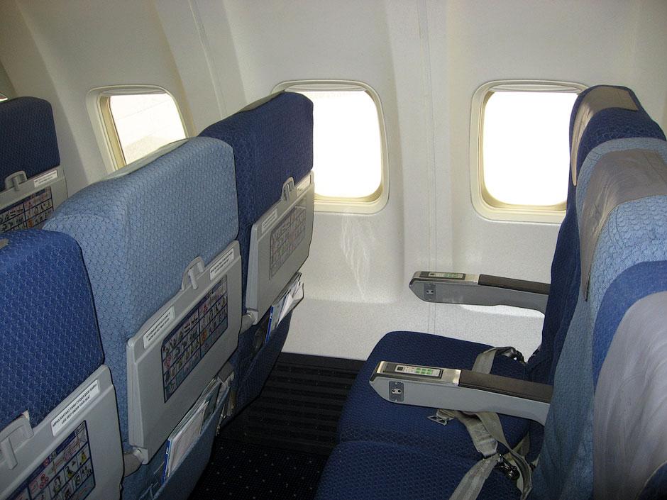 Economy class seats of MIAT Boeing 737-800