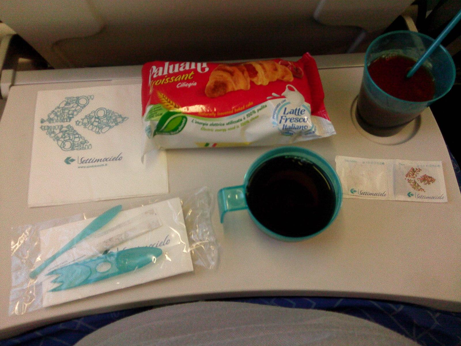 Питание на рейсе Верона-Мюнхен авиакомпании Air Dolomiti