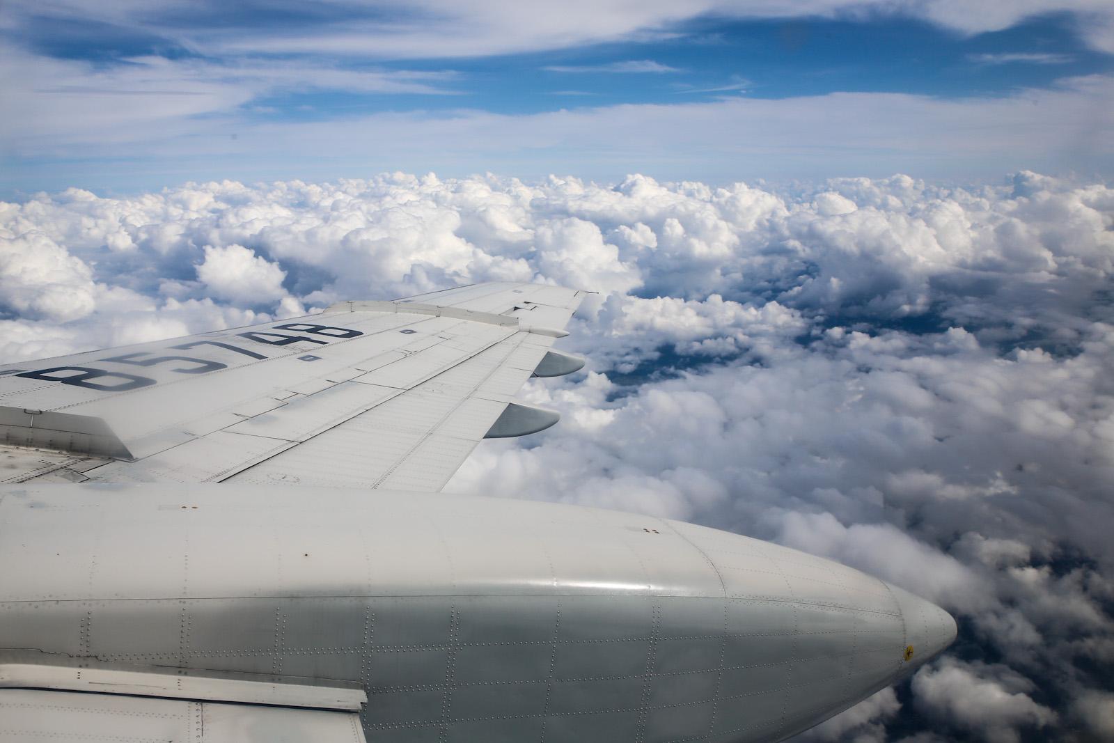 В полете на самолете Ту-154