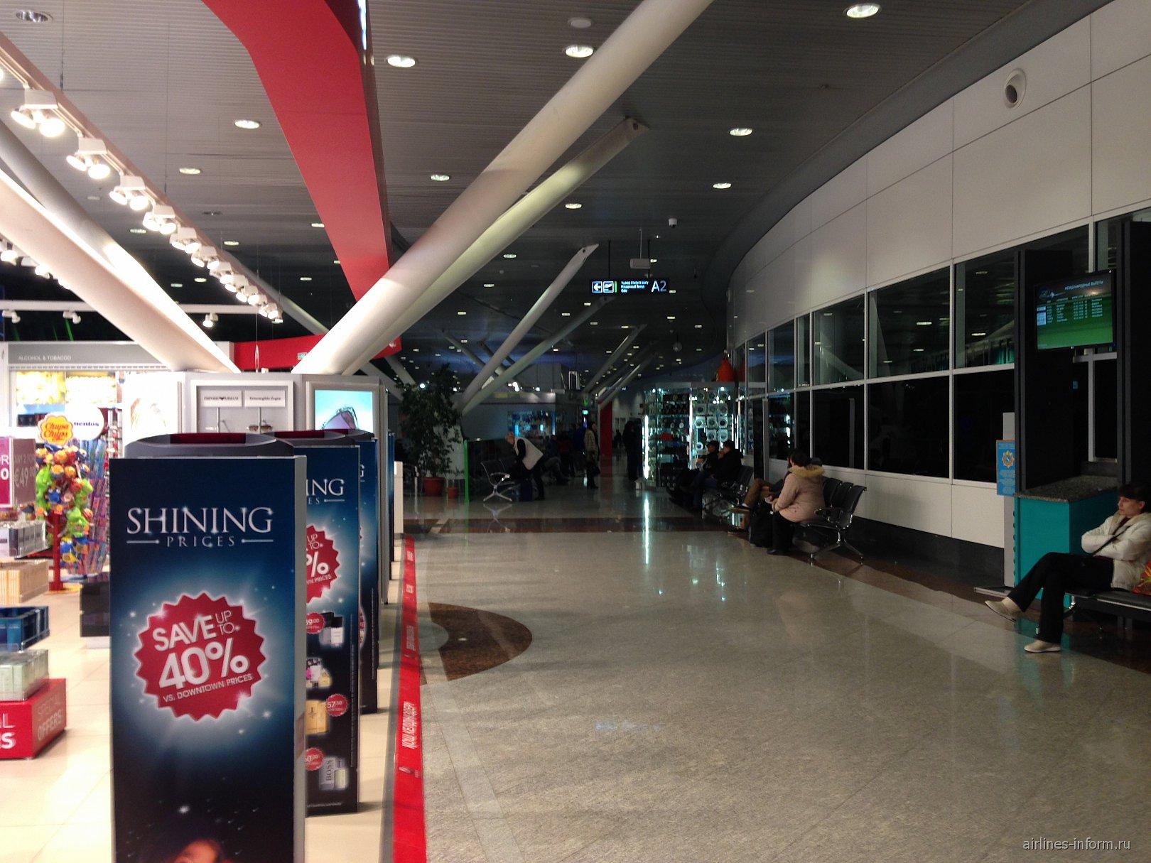 В чистой зоне аэропорта Астана