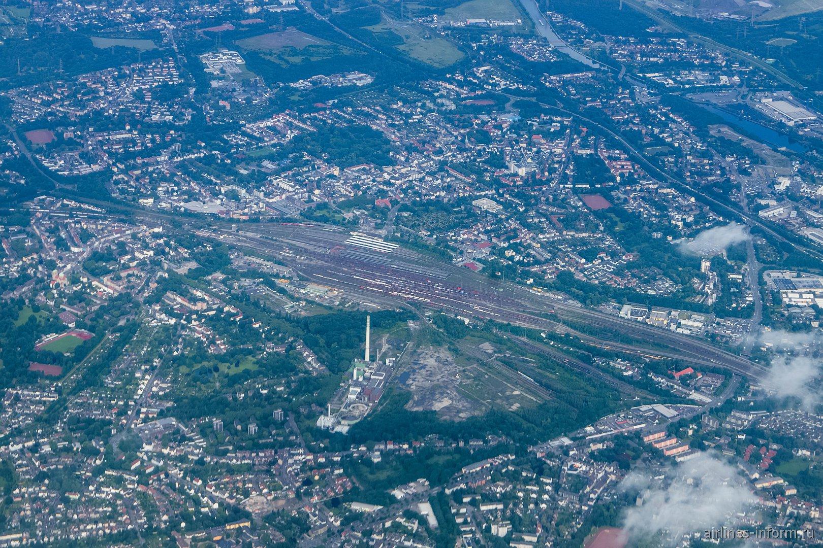 Железнодорожная станция города Эссен в Германии