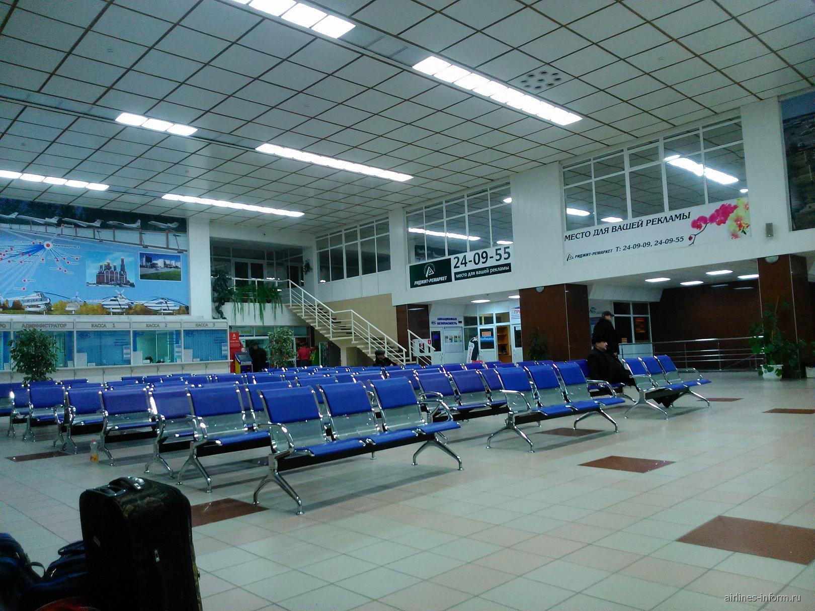 Зал ожидания в аэропорту Нижневартовск
