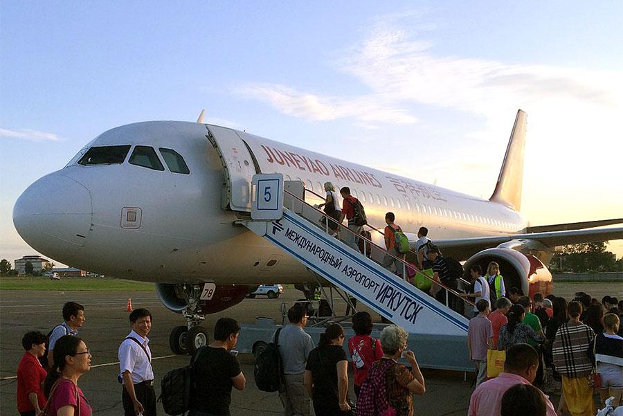 Перелет на А-320 с китайским лоукостером Juneyao Airlines по маршруту Иркутск - Шанхай (Пудонг)