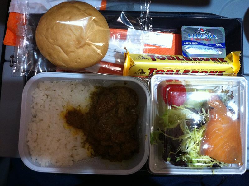 Питание на рейсе Аэрофлота Гонконг-Москва