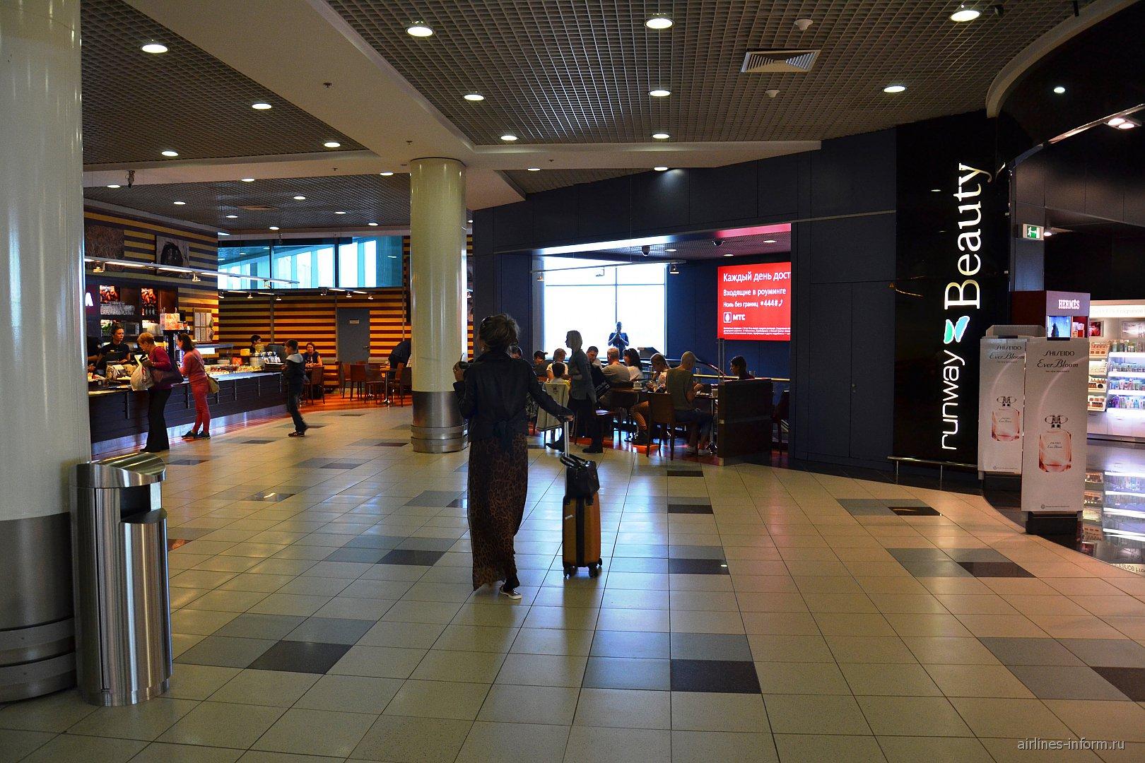 В чистой зоне международных вылетов аэропорта Домодедово