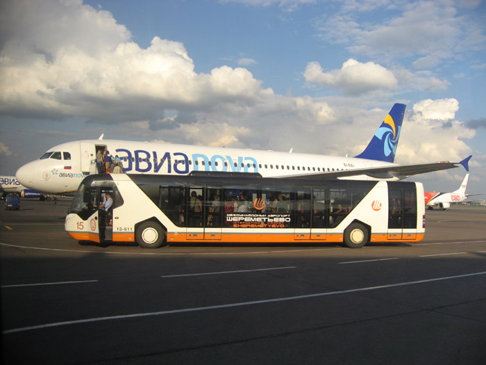 Самолет авиакомпании Авианова в Шереметьево