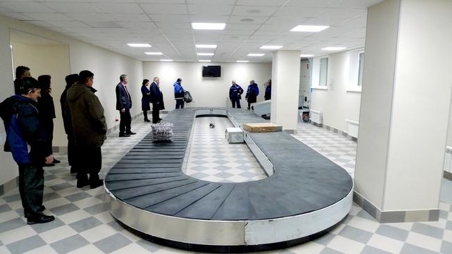 Зона выдачи багажа в аэропорту Мурманск
