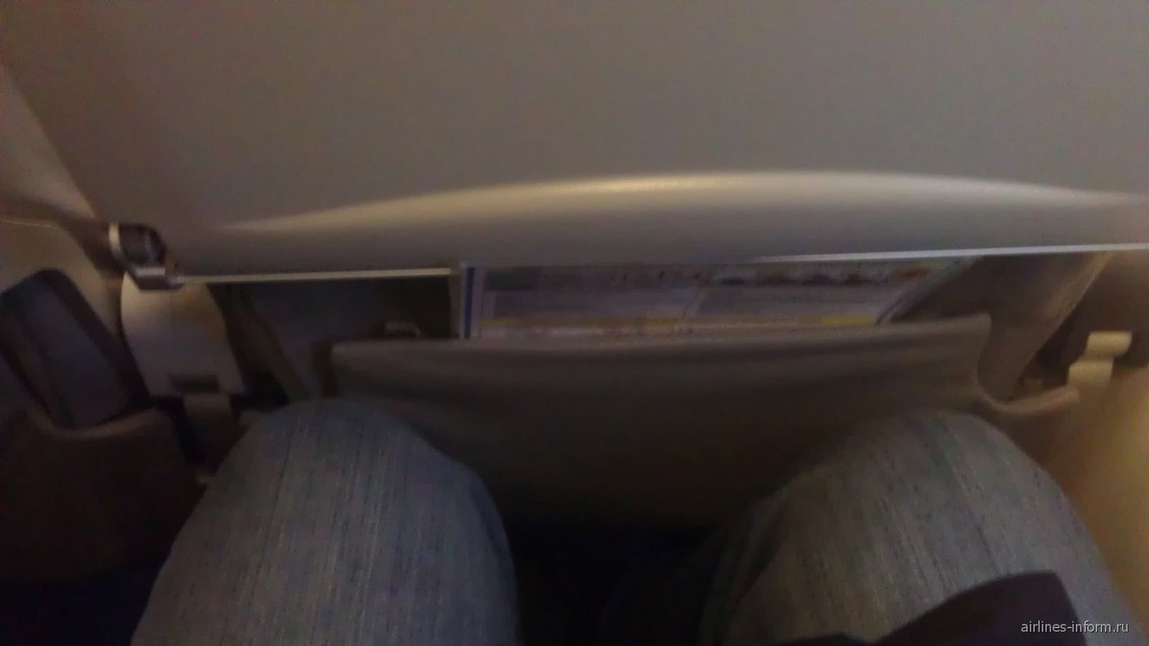 Салон самолета Bombardier CRJ200 авиакомпании Ак Барс Аэро