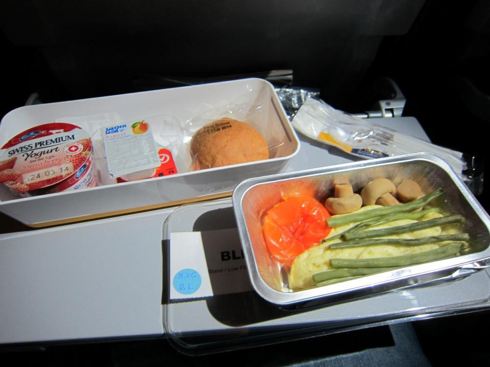 Завтрак на рейсе Сингапур-Франкфурт авиакомпании Lufthansa