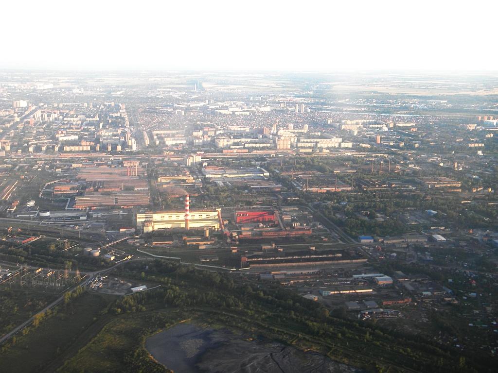 Промышленная зона Новосибирска