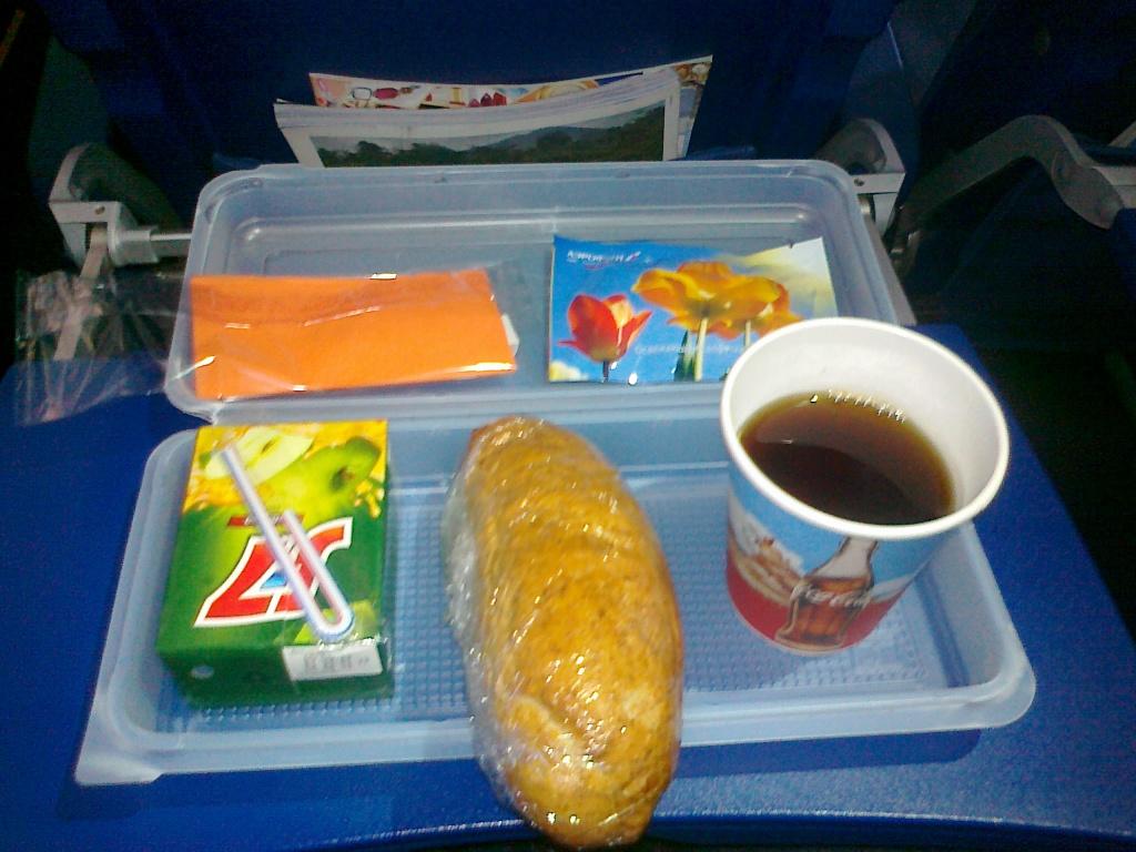 Питание на рейсе Аэрофлота Москва-Самара