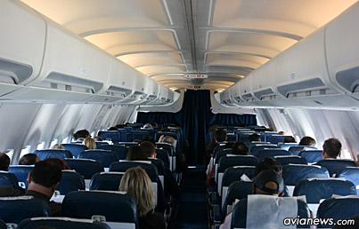 Салон самолета Боинг-737-500 МАУ