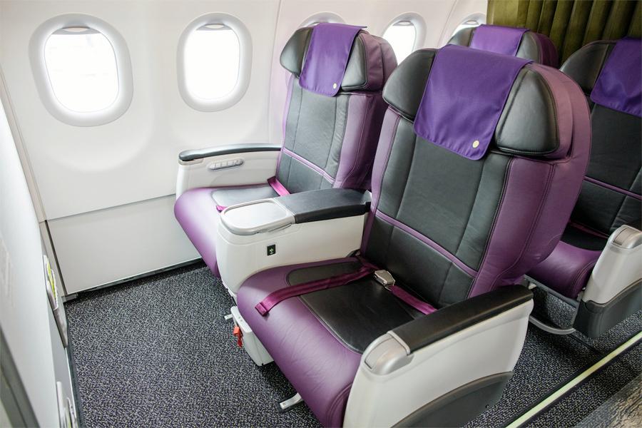 Бизнес-класс в авиалайнере Airbus A321neo авиакомпании S7 Airlines