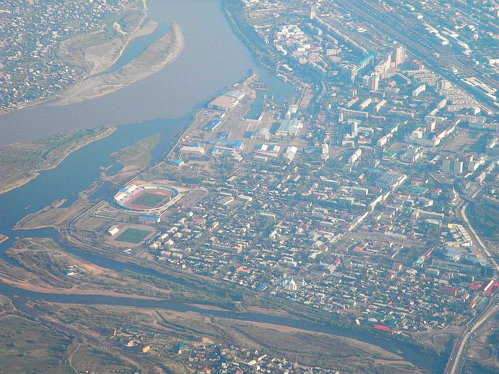 Город Улан-Удэ и река Селенга