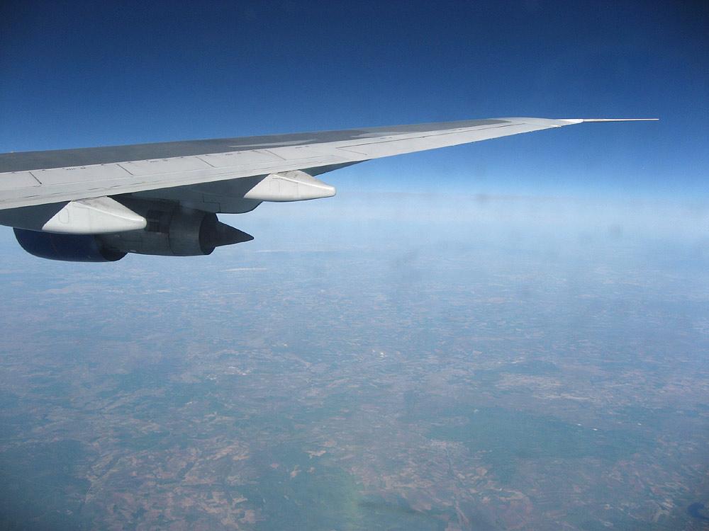 Flying over Turkey