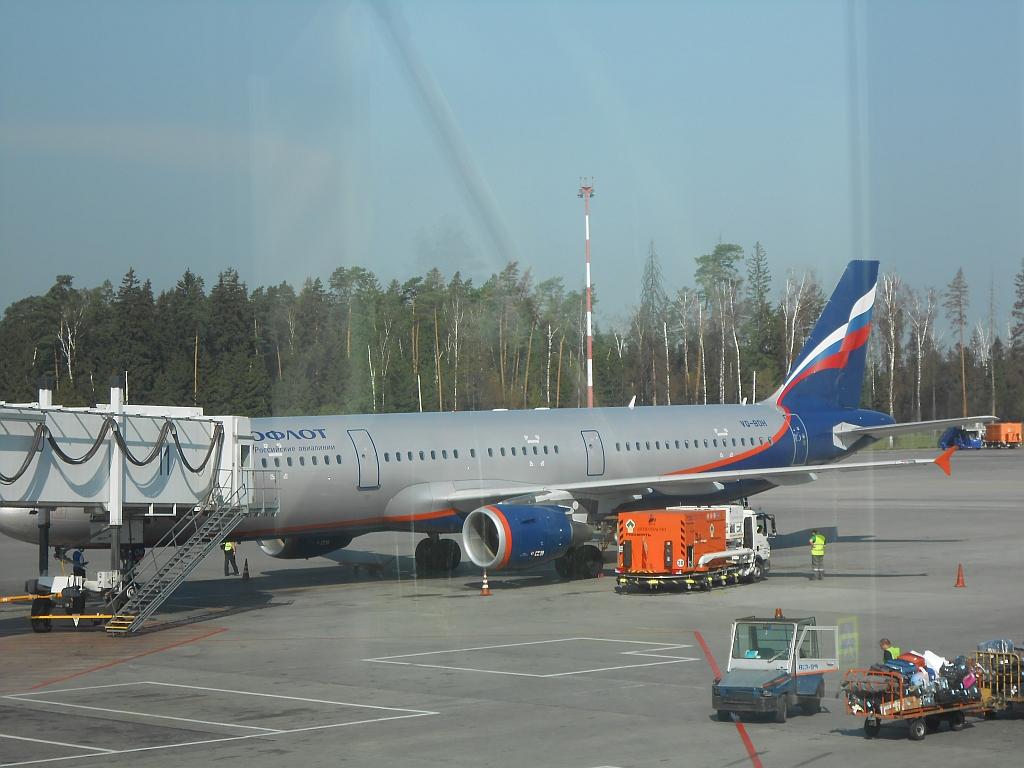Будничный перелет. Аэрофлот. Москва - Санкт-Петербург.