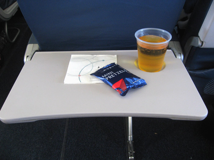 Nuts and juice during a Delta flight
