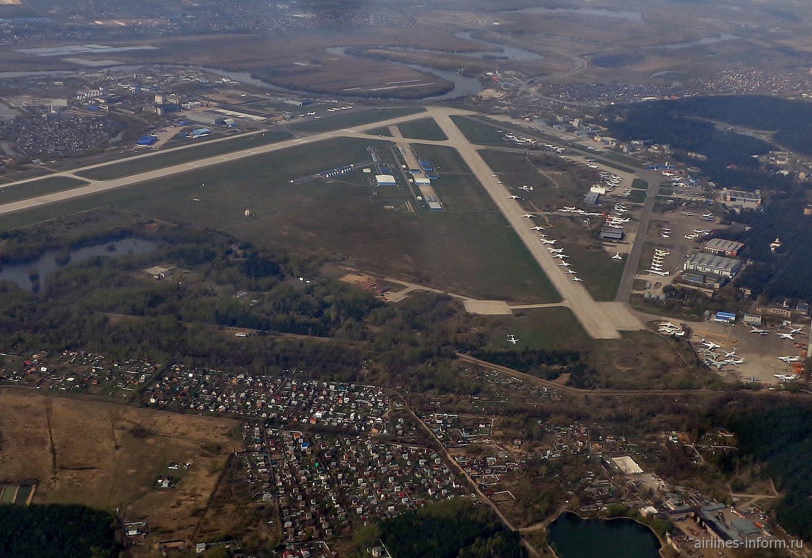 Территория ЛИИ имени Громова и аэродром Жуковский