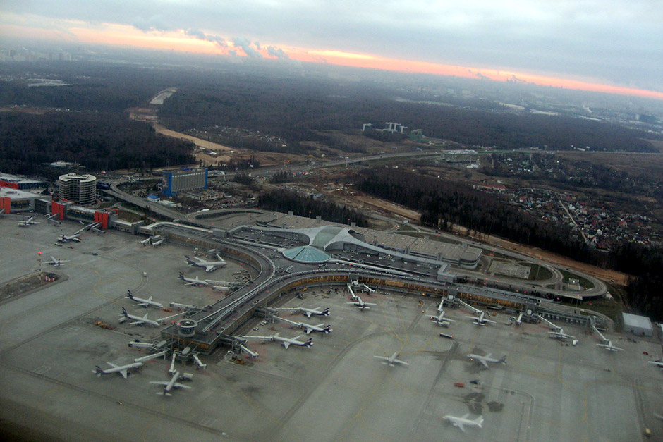 View of Moscow Sheremetyevo airport