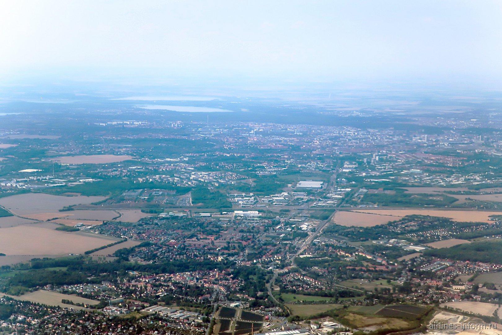 Вид на город Лейпциг в Германии