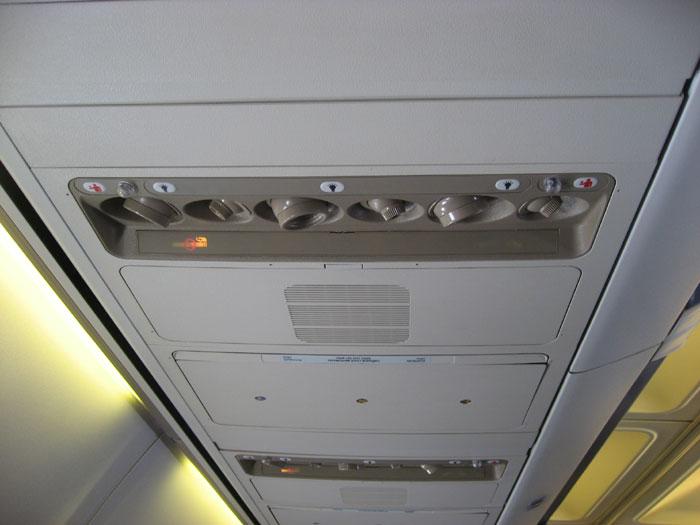 Внутри самолета Боинг-737-500 Днеправиа