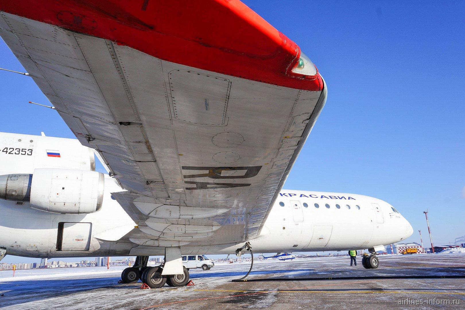 Омск-Уфа, авиакомпания Красавиа, ЯК-42Д, RA-42353