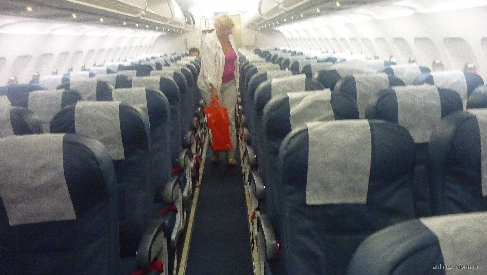 Салон самолета Airbus A319 авиакомпании Air Malta