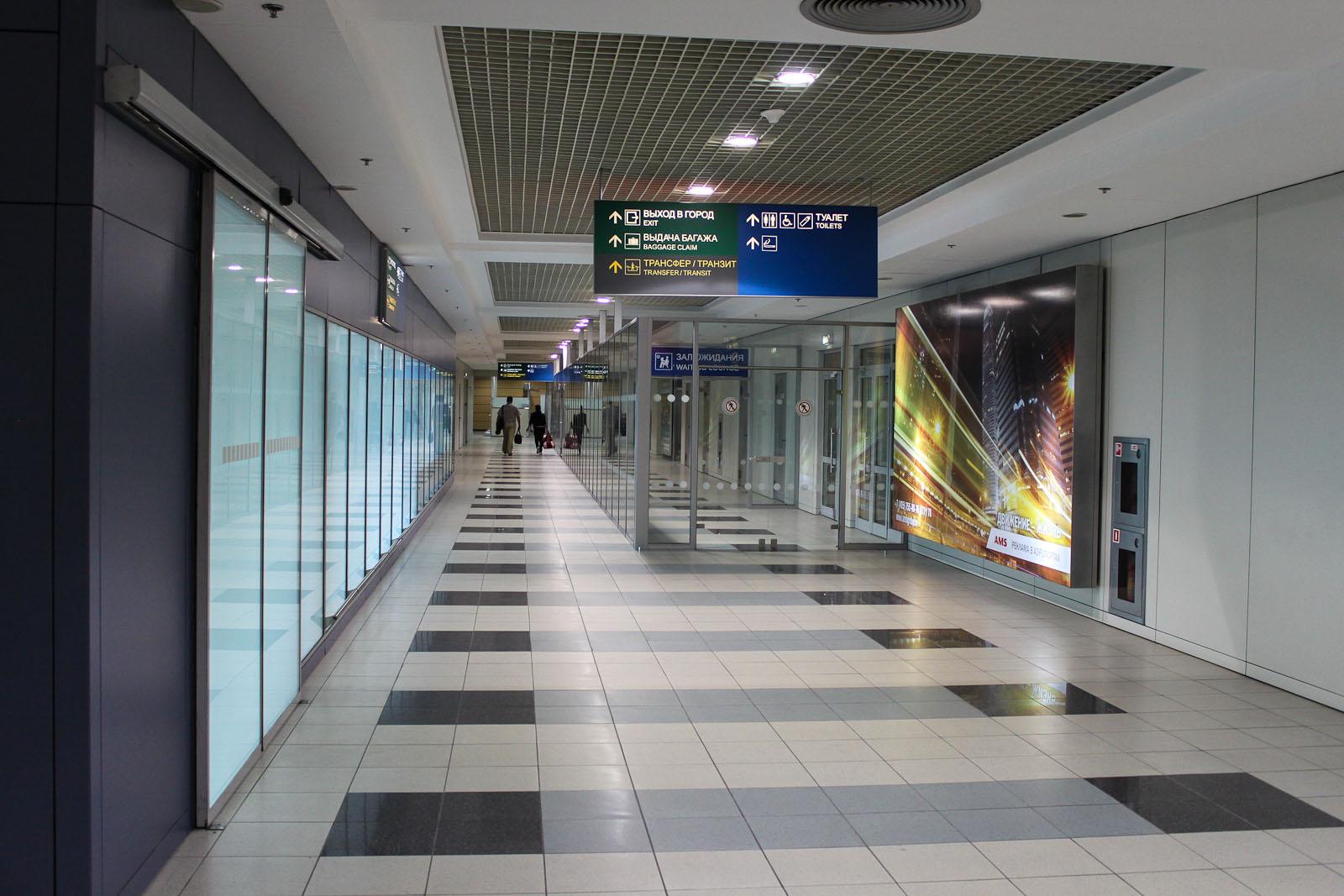 Выход в город в аэропорту Домодедово