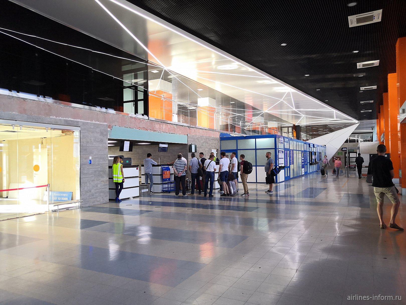 В аэровокзале аэропорта Магнитогорск